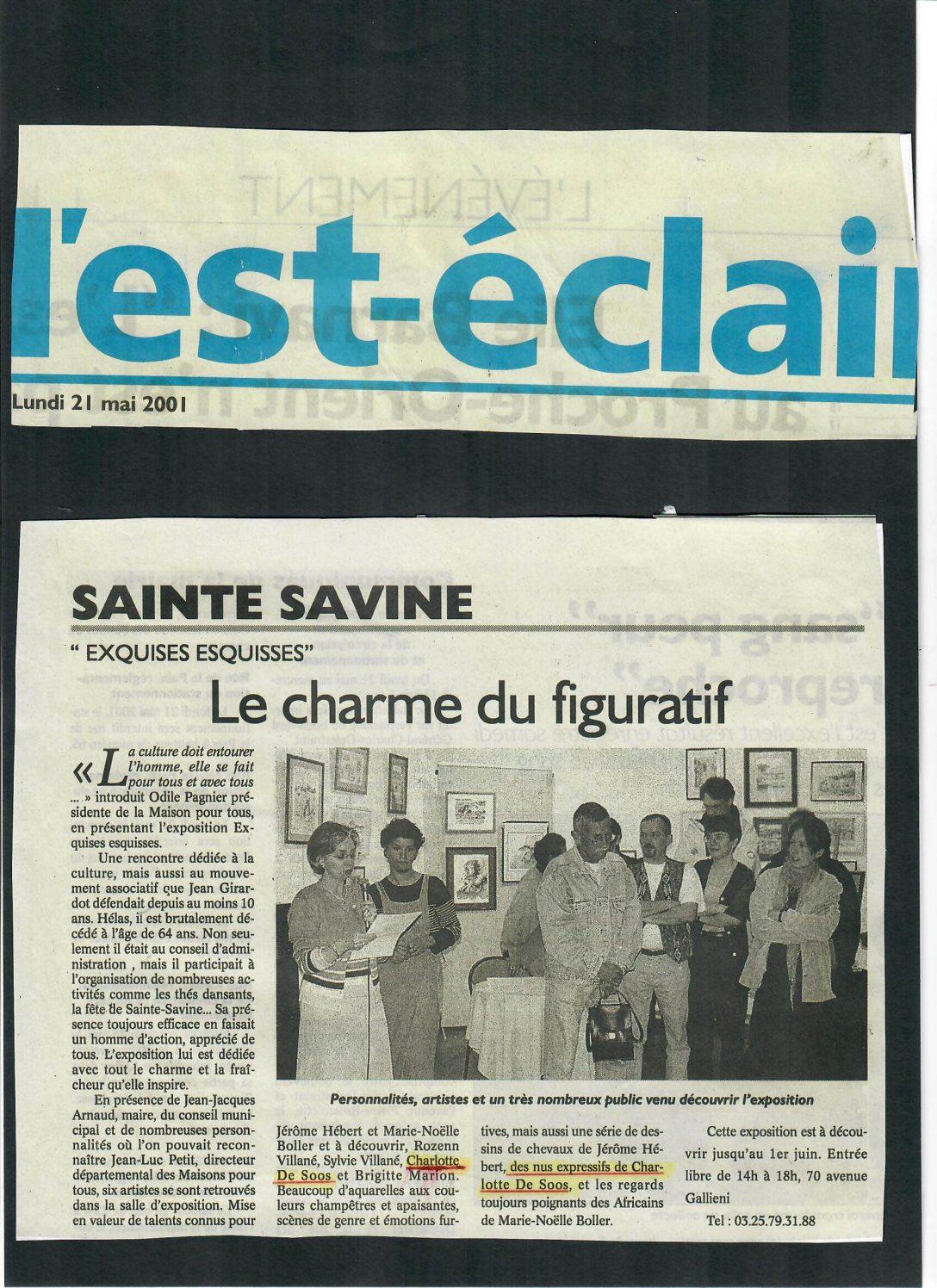 Article sur l'exposition à Sainte Savine